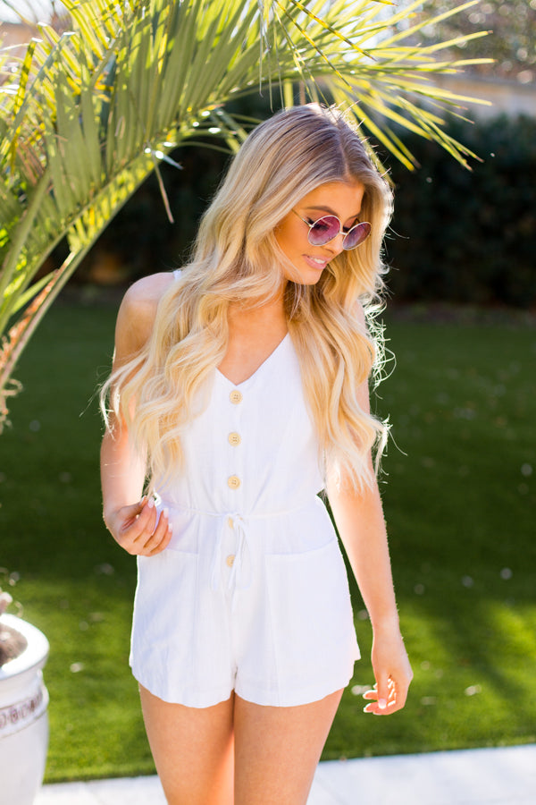 Can't Go Wrong Romper- White