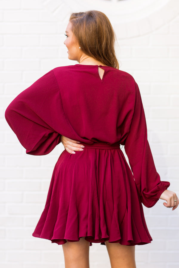 Think Of Me Dress - Burgundy