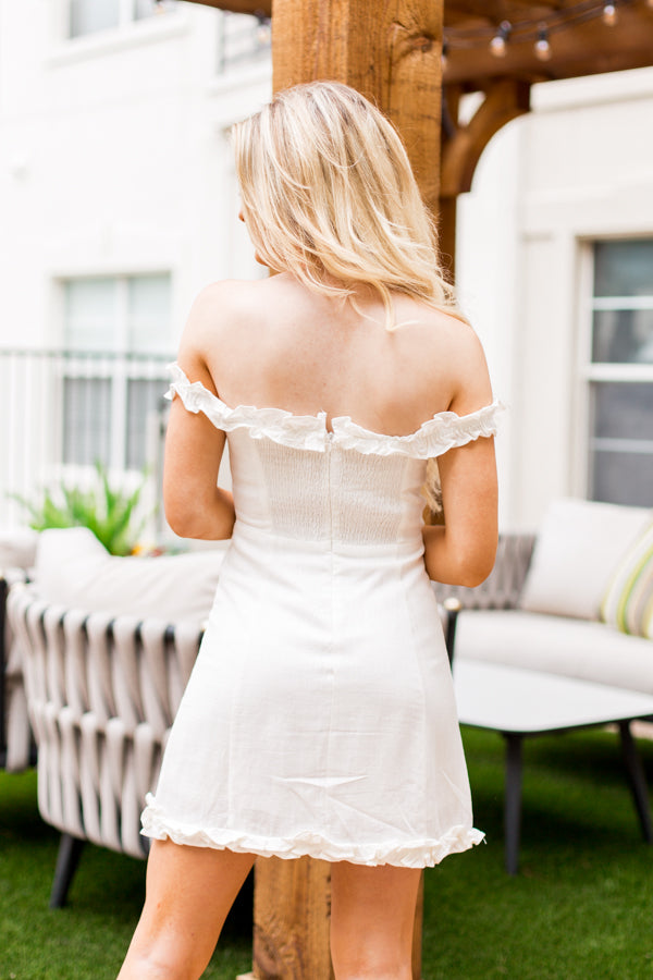 Just Darling Dress- White