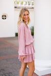 Pleats To Meet You Dress- Mauve