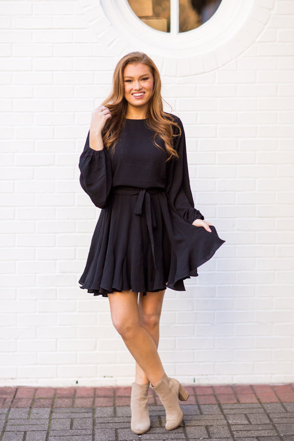 Think Of Me Dress - Black