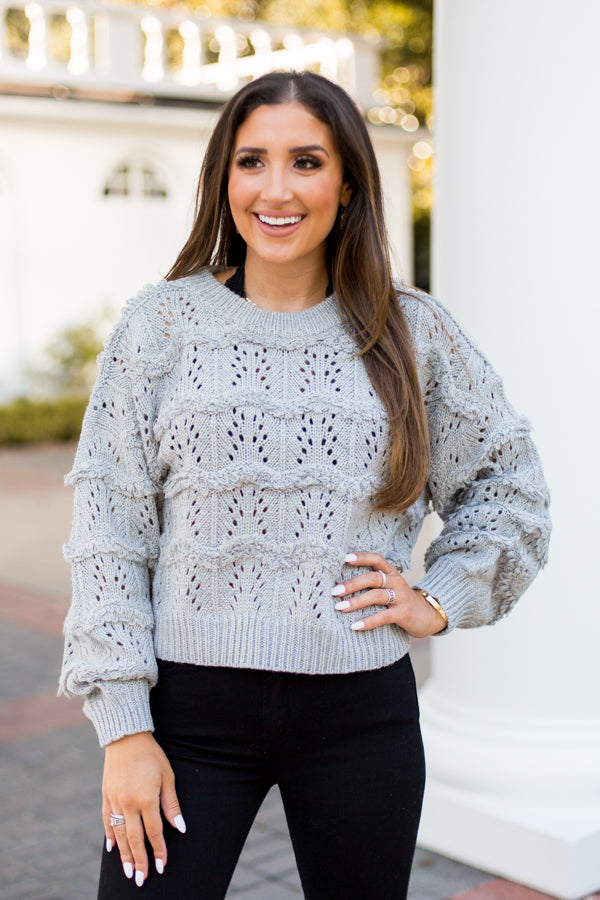 Cozy Up To Me Sweater - Grey