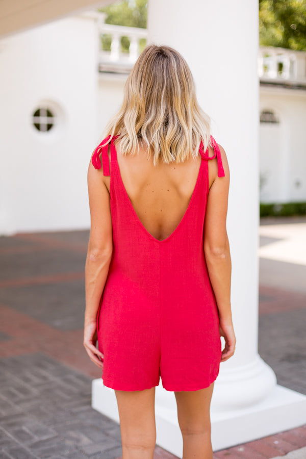 Call Me Señorita Romper- Red