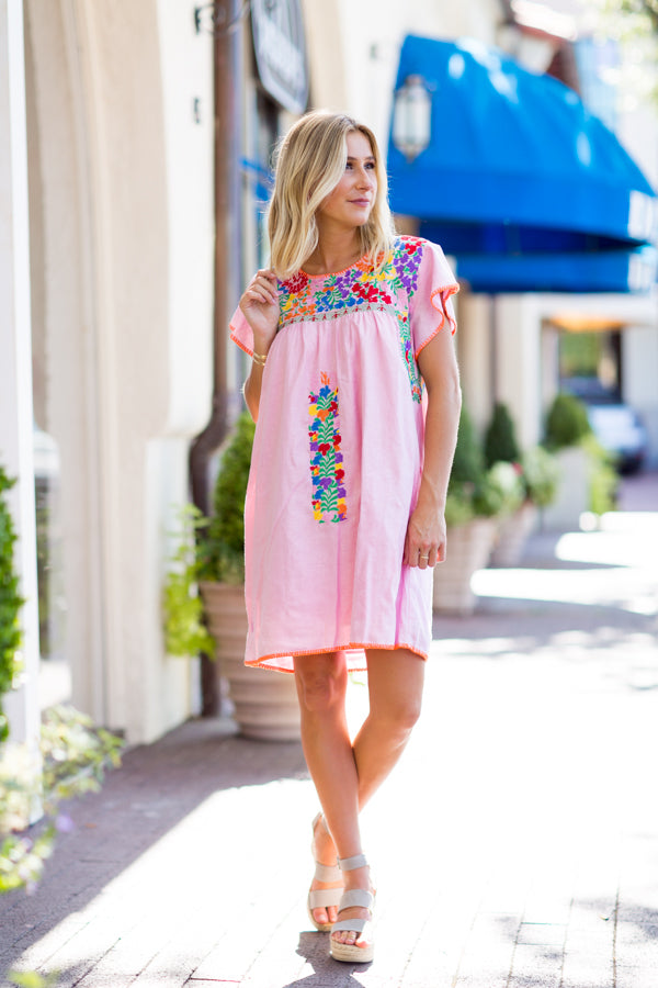 The Addie Dress - Light Pink