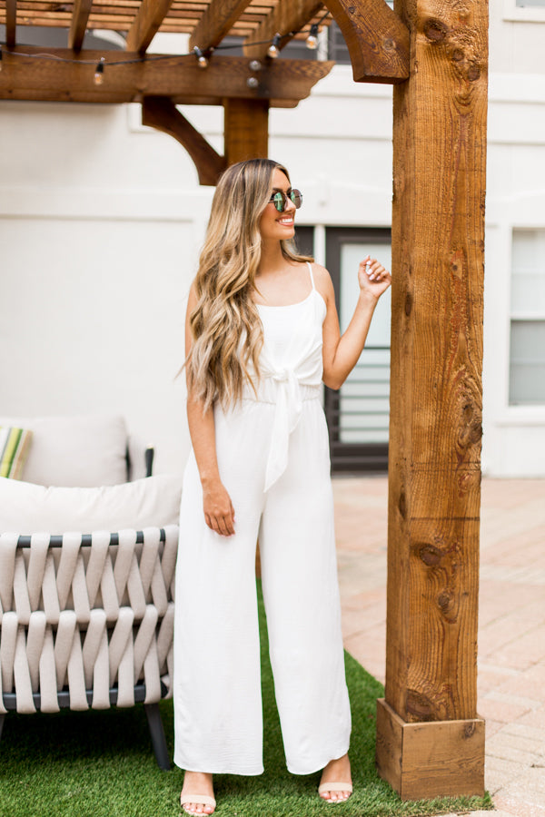 All White Everything Jumpsuit