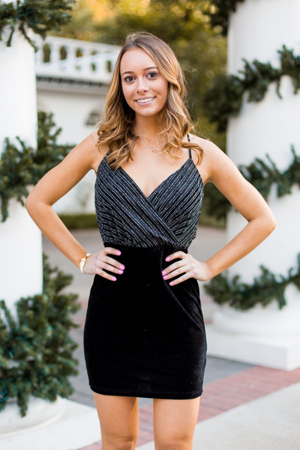 Ball Drop Dress- Black