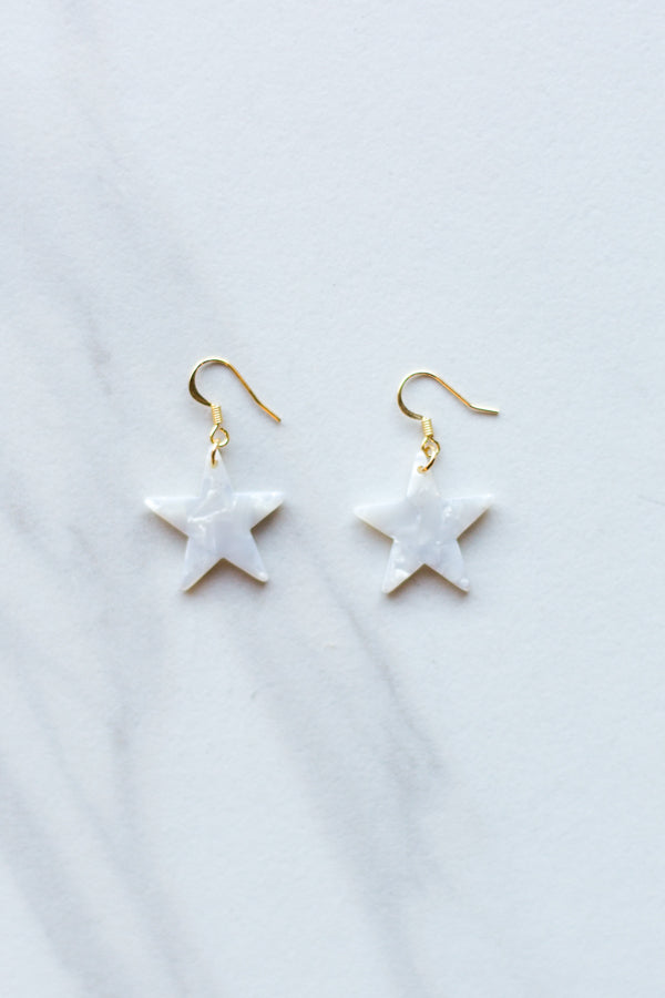 Starlight Acrylic Earrings- Off White