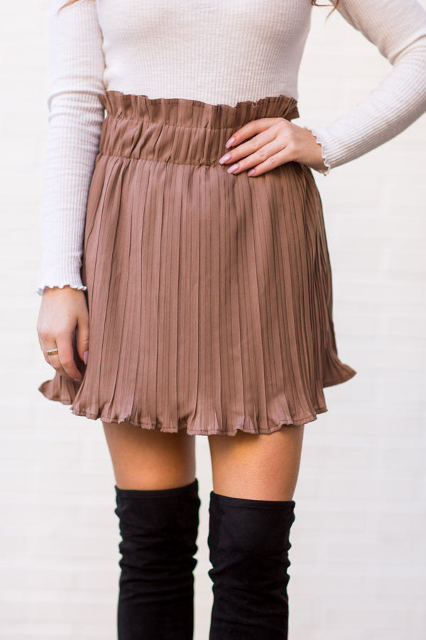 Sway This Way Skort - Mocha
