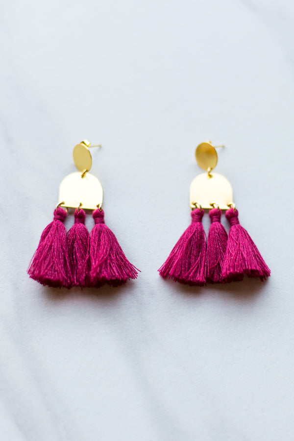 Kuzco Earrings- Crimson