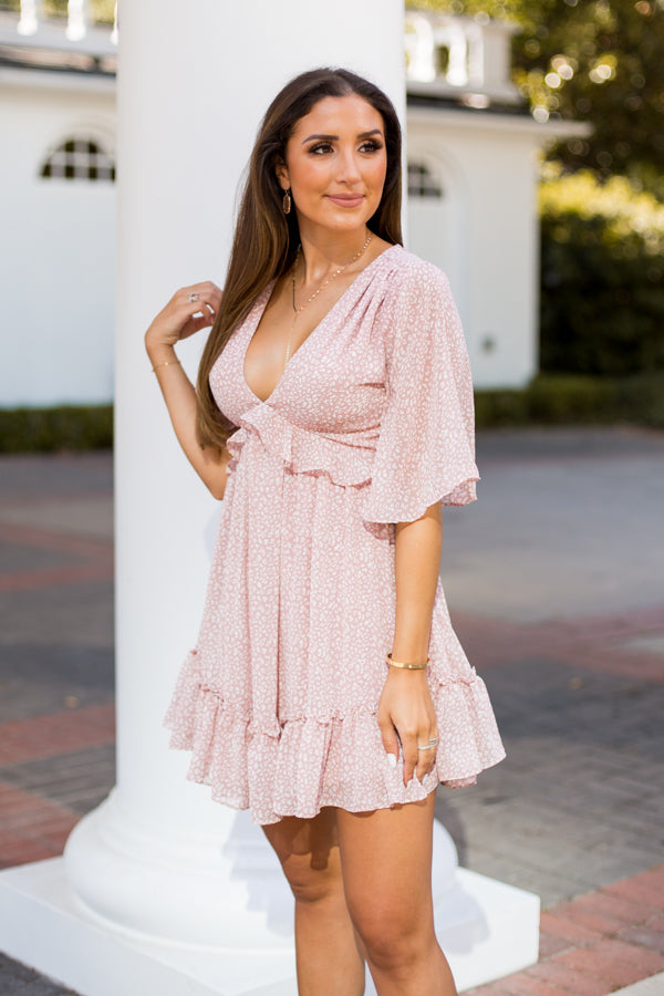 Sweet & Sassy Dress - Pink Leopard