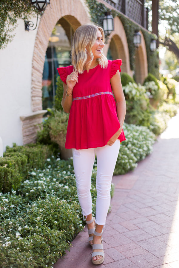 The Mckenzie Top - Red