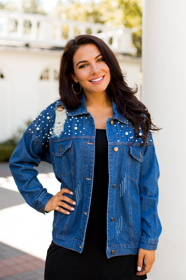 Royal Embellishments Denim Jacket