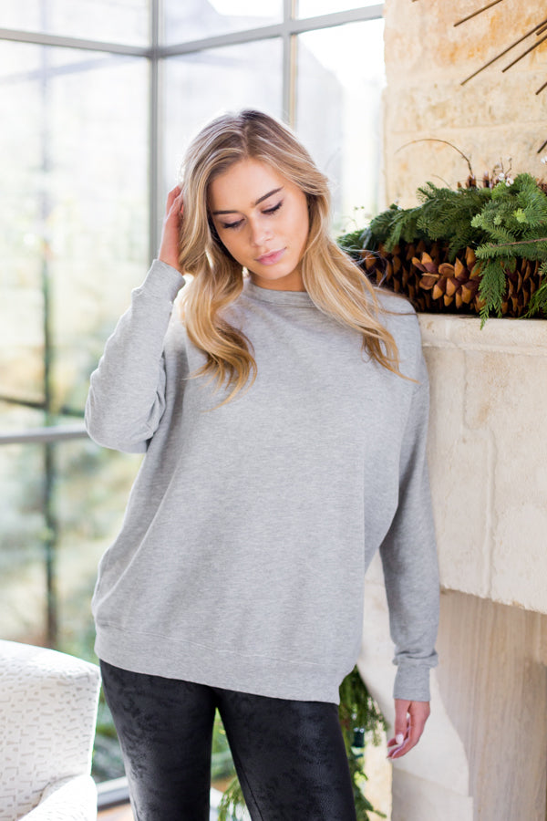 Wildfox Roadtrip Sweater- Heather Grey