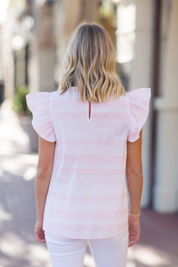 The Nora Top - Pink