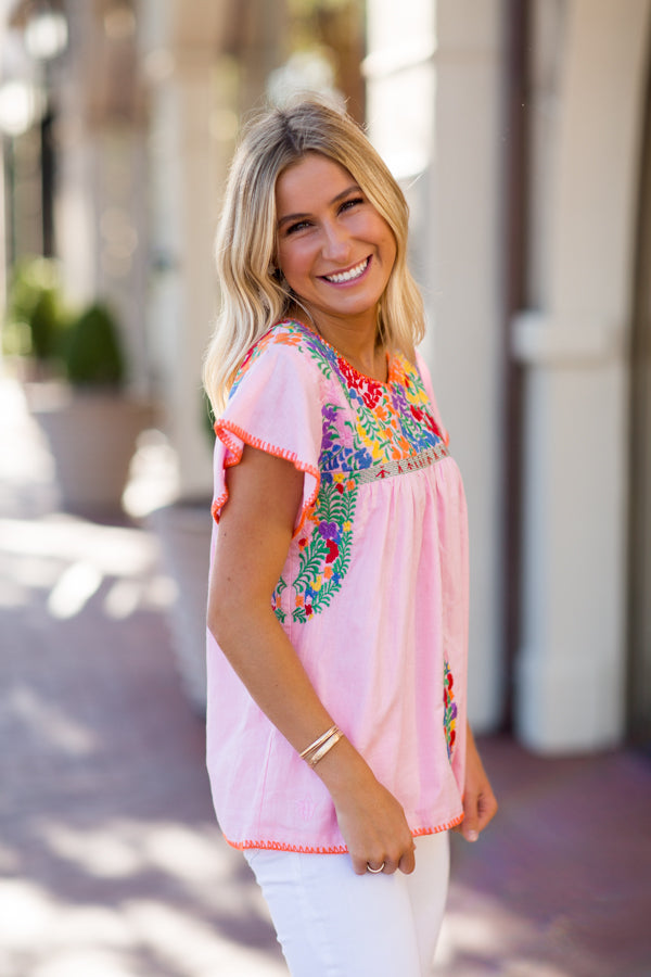 The Addie Top - Light Pink