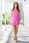 Pink Party Wrap Dress