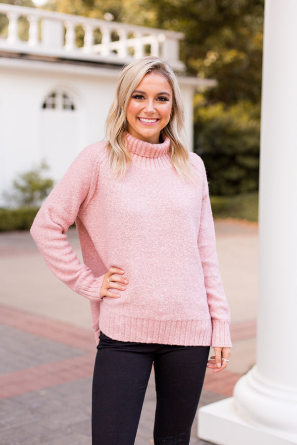 Rosy Cheeks Sweater - Pink
