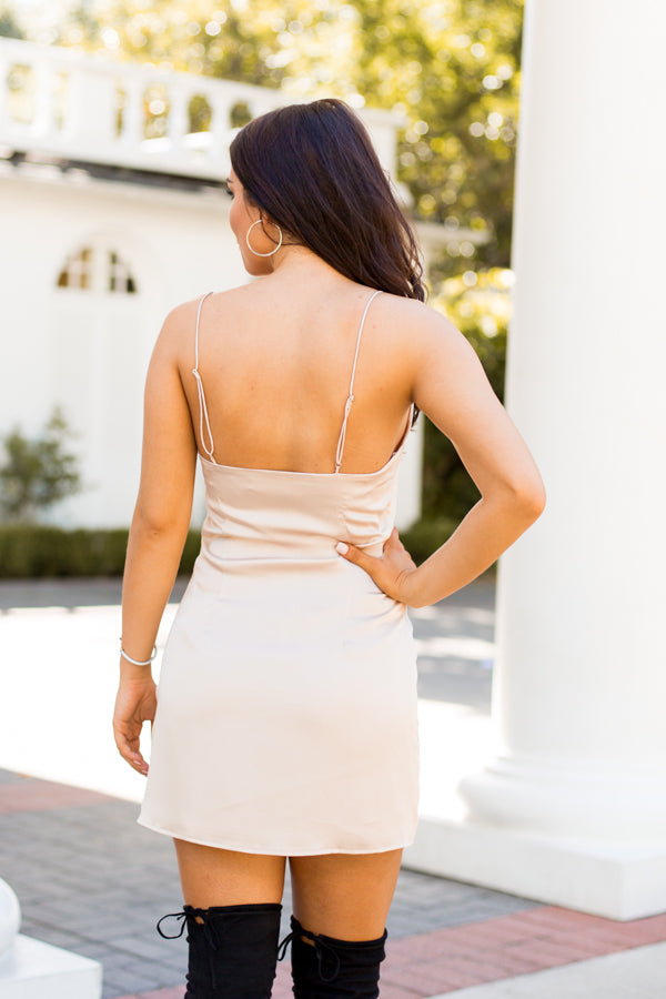 Silky Slip Dress- Champagne