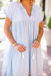 The Dani Dress - Light Blue