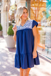 The Peyton Dress - Navy