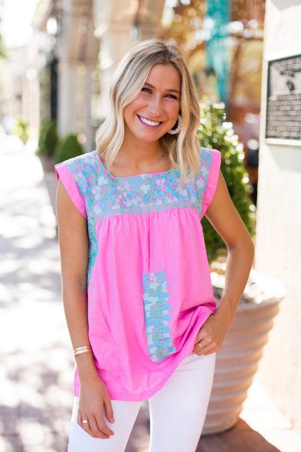 The Mandy Top - Pink