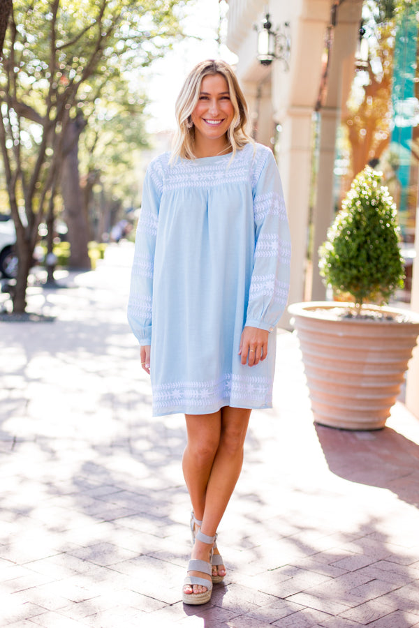 The Katie Dress - Light Blue