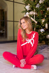 Wildfox Gift Wrapped Baggy Beach Jumper- Scarlet