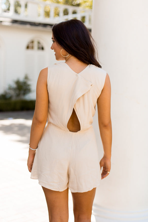 Shift Into Neutral Romper- Nude