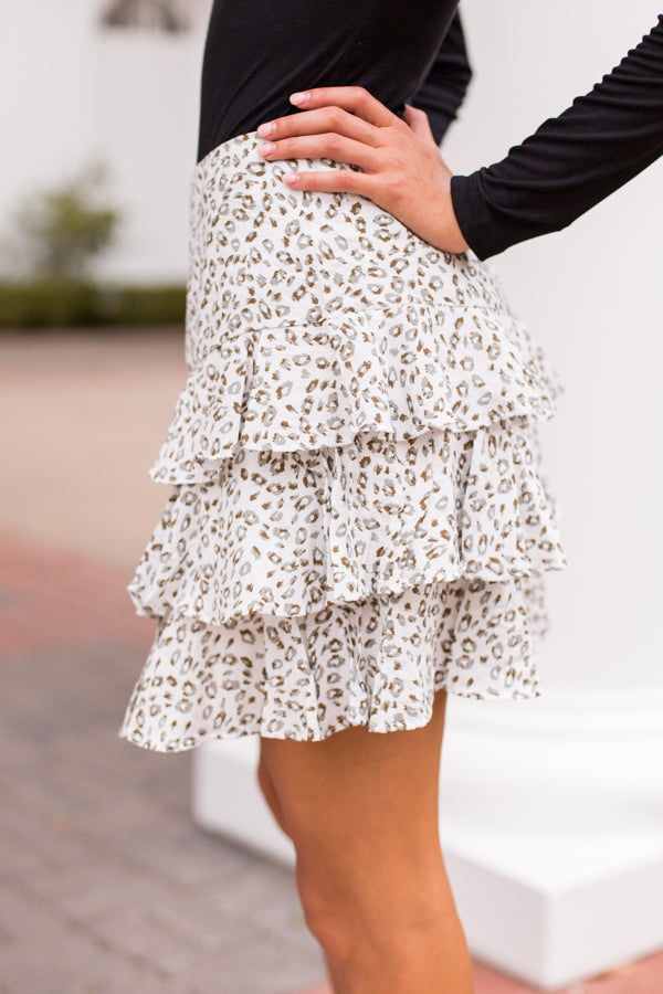 Wild About You Skirt - White