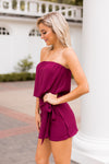 Say Merlot Romper - Wine