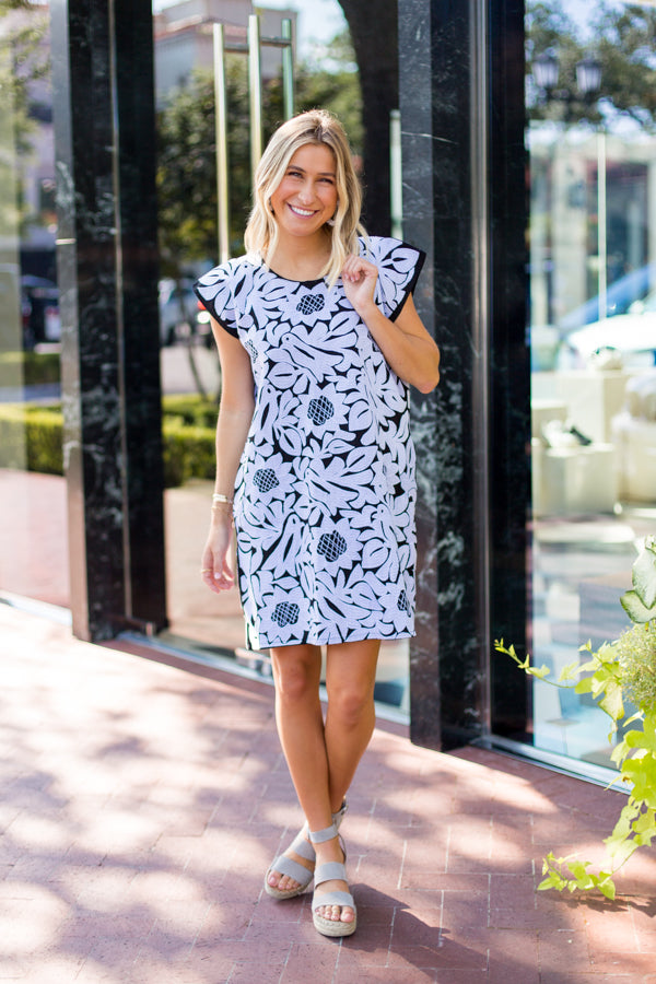 The Mia Dress - Black & White