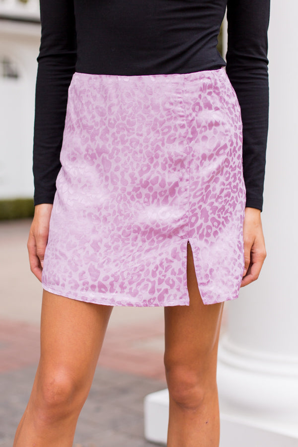 Cheetah Sister Skirt - Lilac