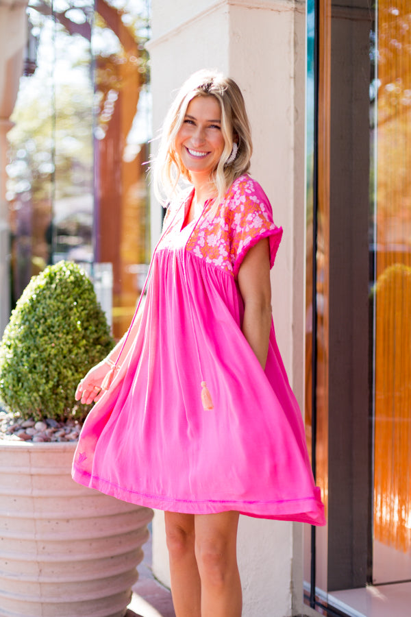 The Laynie Dress - Pink