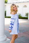Barca Babe Dress- Blue
