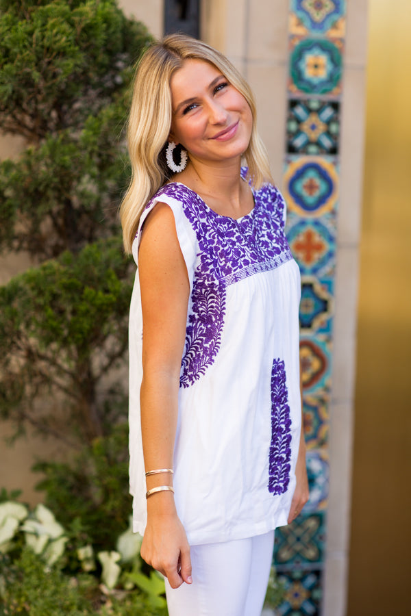 The Jada Top - Purple