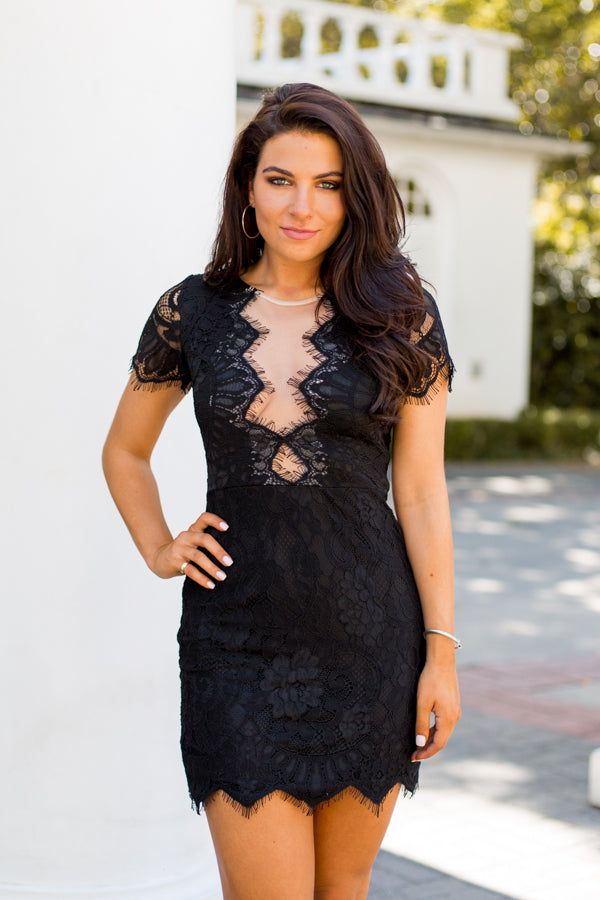 Lace Lace Baby Dress- Black