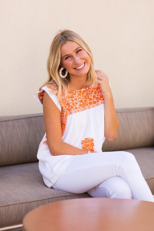 The Aubrey Top - Orange