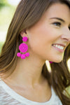 Gumball Beaded Earrings - Pink