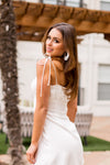 Not Just Any Girl Dress- White