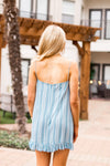 Better Belize It Dress- Dusty Blue