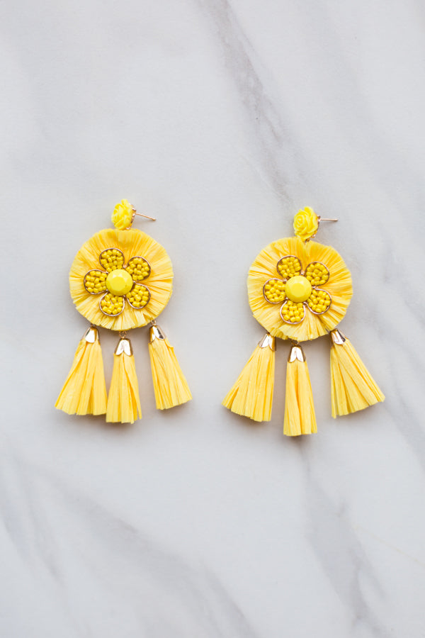 Jolie Tassel Earrings - yellow