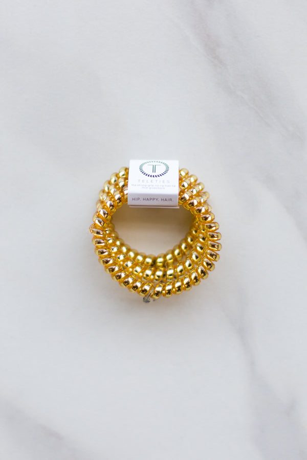 Teleties Small Hair Ties- Sunset Gold