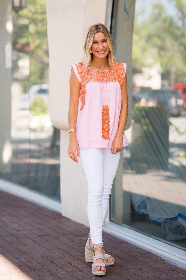 The Rae Top - Light Pink