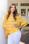 Sweet Sunshine Ruffle Top