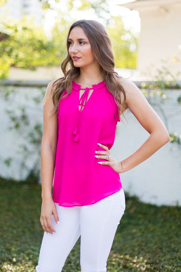 All In The Details Top- Berry