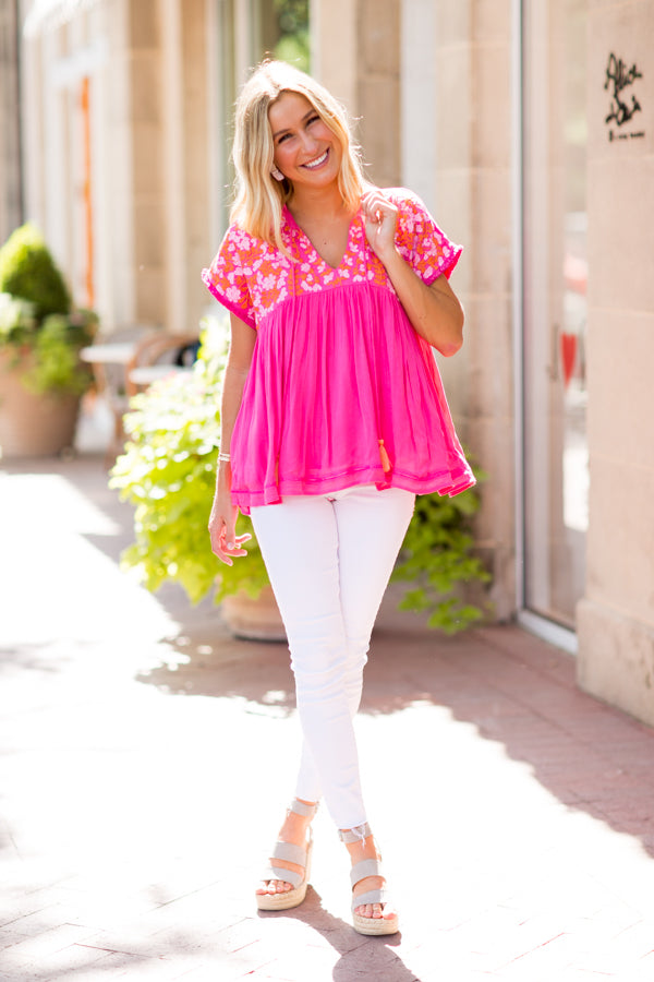 The Laynie Top - Pink