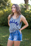Dallas Tank- Grey & Blue