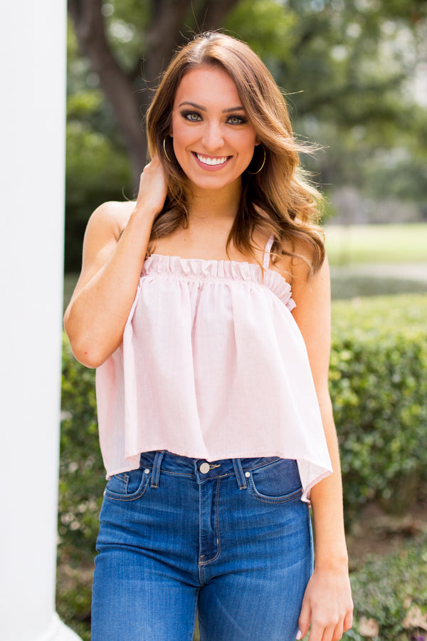 Make Me Blush Top- Pink