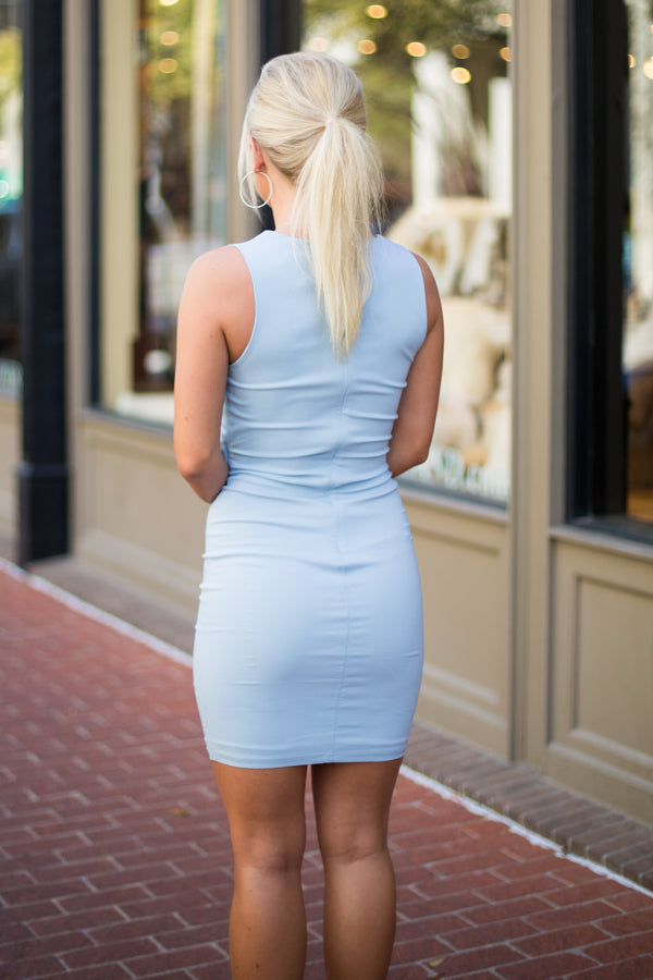 Blue Belle Bodycon Dress