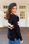 Seeing Stripes Sweater- Black